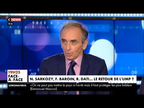 Eric Zemmour Rachida Dati commet une erreur en faisant venir Sarkozy Face à l'info 09 03 2020