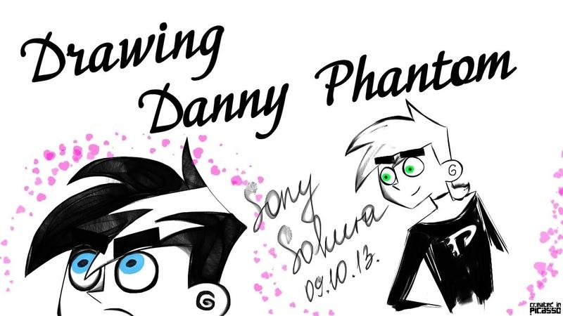 Рисую Дэнни-призрака (ВК-приложение Picasso, ускорено в 10 раз)