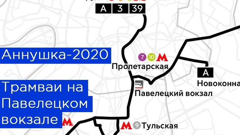 Аннушка 2020 Трамвай на Павелецком вокзале