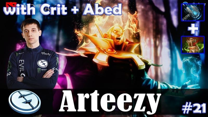 Arteezy - Invoker Roaming | with Crit (Dazzle) Abed (Kunkka) | Dota 2 Pro PUB Gameplay 21
