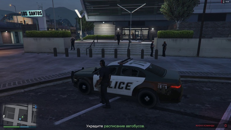 GTA V ONLINE The Prison Break миссия 3 Полицейский участок