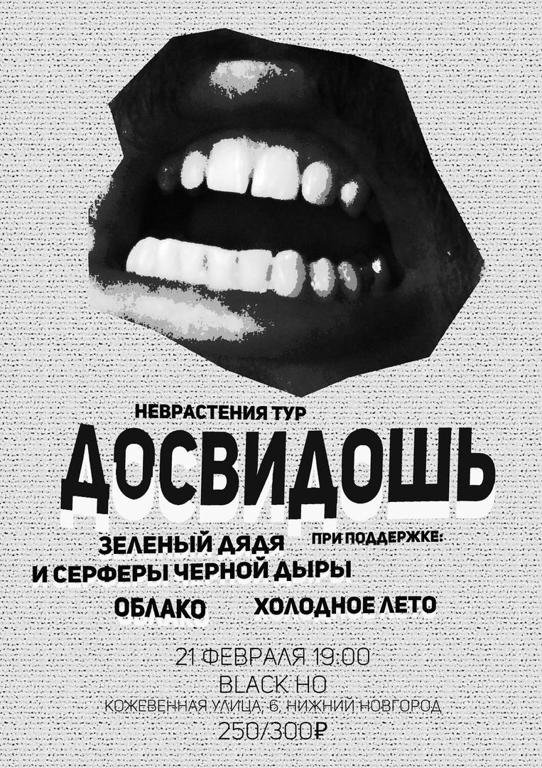 Афиша Саратов 21 ФЕВРАЛЯ / ДОСВИДОШЬ / Н.НОВГОРОД