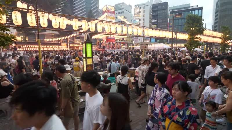Прогулка по Эбису фестиваль Обон 2019 г