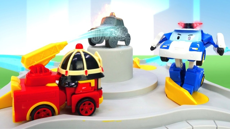 Robocar Poli and Cars in Brooms Town: Rescue Team Car Animation