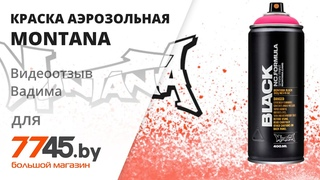 Краска аэрозольная MONTANA Black Видеоотзыв (обзор) Вадима