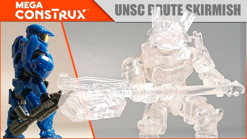 Видео обзор набора Mega Construx Mega Bloks HALO UNSC Brute Skirmish артикул DFX10