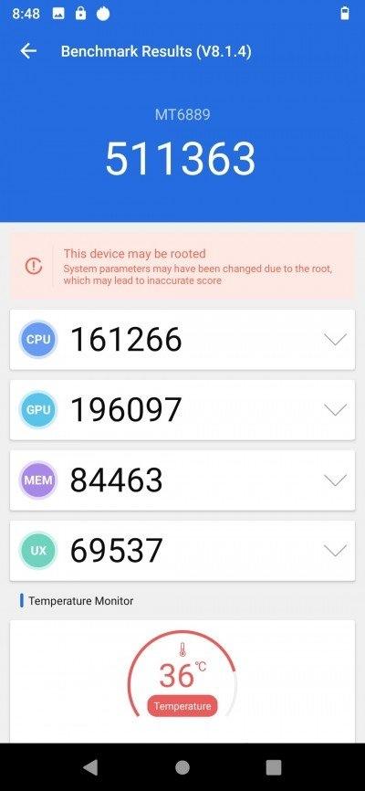 Результаты тестирования MediaTek Dimensity 1000 5G в бенчмарке AnTuTu