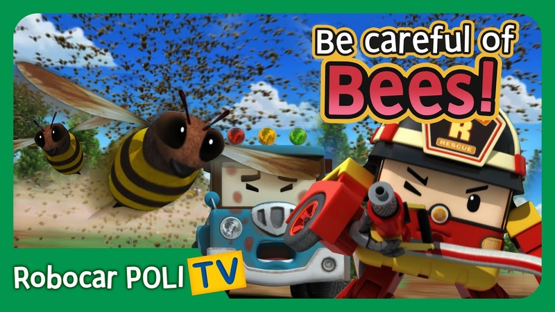 Be careful of Bees Robocar Poli Clips