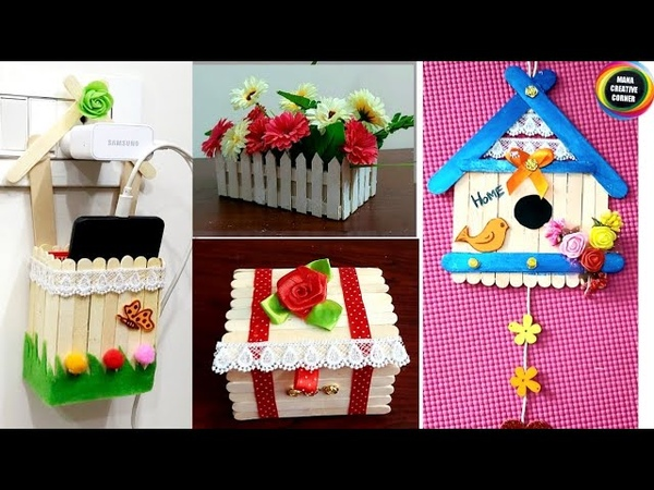 5Easy popsicle sticks craft ideas for home popsiclestickscraftIcecream sticks craft ideas Best