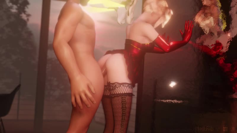 Xmas Mercy Overwatch Full HD porn stocking cum inside petting
