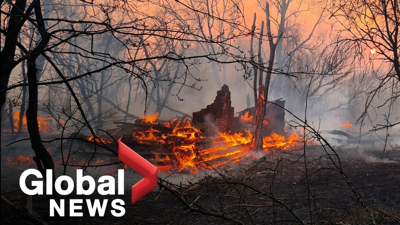 Forest fires rip through Chernobyl, triggers radiation spike around nuclear plant