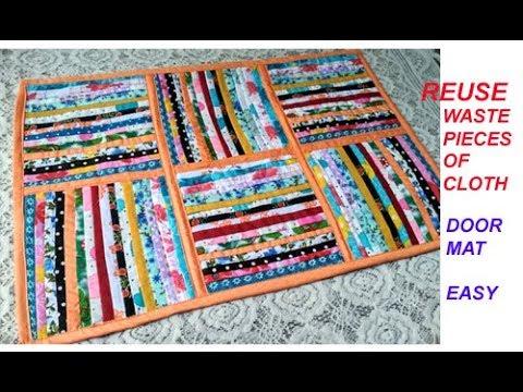 Reuse old साड़ी - सूट - पुराने कपड़ों से बनाए Floor Mat, carpet , area rug , door mat , TABLE MAT