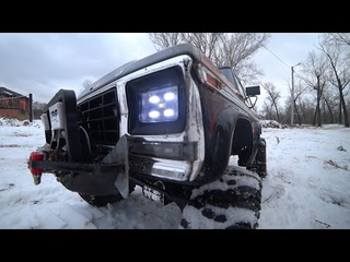 Трофи трасса в Саратове полное прохождение зимой trx 4 g500, land rover defender, ford bronco RC CAR
