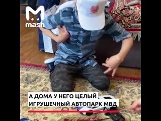 В Дагестане полицейские  исполнили мечту мальчика с ДЦП -покатали его на патрульной машине