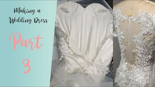 DIY Wedding Dress | Lets make a wedding dress with lace appliques 3