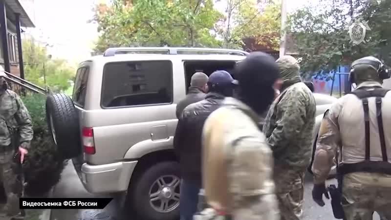 Спецназ ФСБ России во время задержания финансистов ИГ