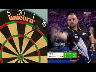 Arron Monk vs Jose Justicia (PDC World Darts Championship 2020 / Round 1)