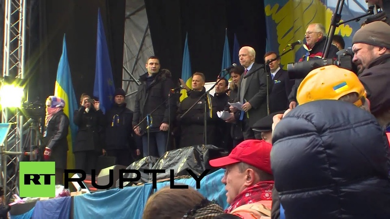 Ukraine McCain tells Kiev's protesters I am with you