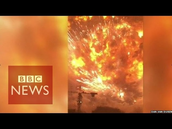 Tianjin explosion video captures fear of eyewitnesses BBC News