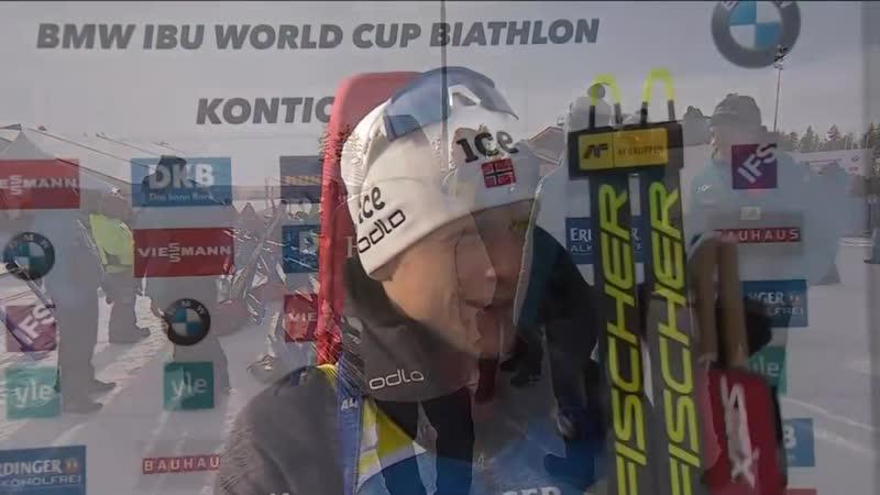 Биатлон Кубок Мира 2019 2020 Этап 8 Контиолахти Мужская гонка Преследования 12 5 км Пасьют мужчины 14 03 2020 Евровижн