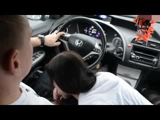 Малышка отсосала в машине Young Devotion Blowjob