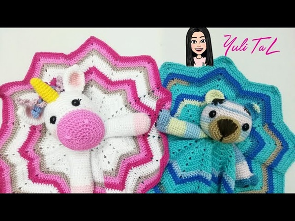 Mantita de apego para bebe a crochet (osito)