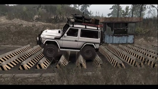 Spin Tires тест Mercedes Benz G 500 SWB