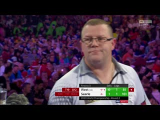 Steve West vs Ryan Searle (PDC World Darts Championship 2020 / Round 2)