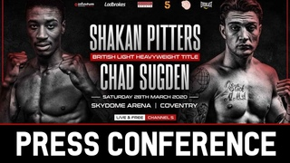 Shakan Pitters vs Chad Sugden FULL PRESS CONFERENCE | Hennessy Sports Boxing