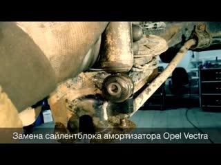 Замена сайлентблока амортизатора Opel Vectra