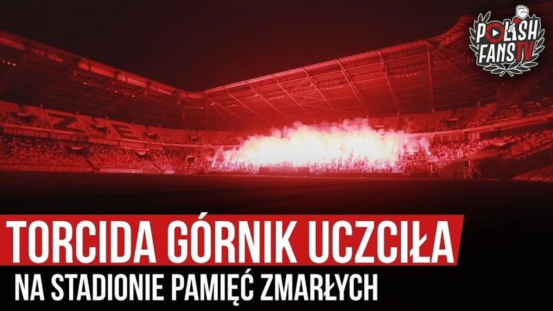 Torcida Górnik uczciła na stadionie pamięć zmarłych 01 11 2019 r