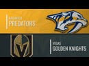 NHL Regular Season 2019 20 Nashville Predators Vegas Golden Knights