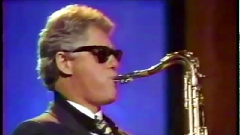 Bill Clinton playing saxophone on Arsenio Hall Show HD