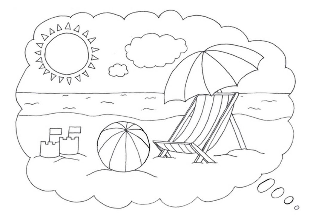 Картинки для разукрашивания с летом