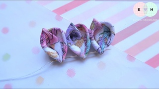 Amazing Kanzashi Flower - Hand Embroidery Works - Ribbon Tricks & Easy Making Tutorial #31