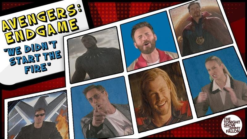 Avengers Endgame Cast Sings We Didn't Start the Fire