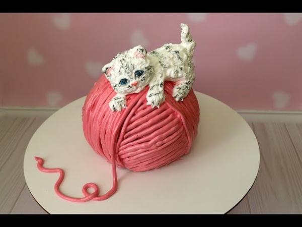 Торт с фигуркой ИЗ КРЕМА Кремовые животные фигурки Кремовый 3Д торт