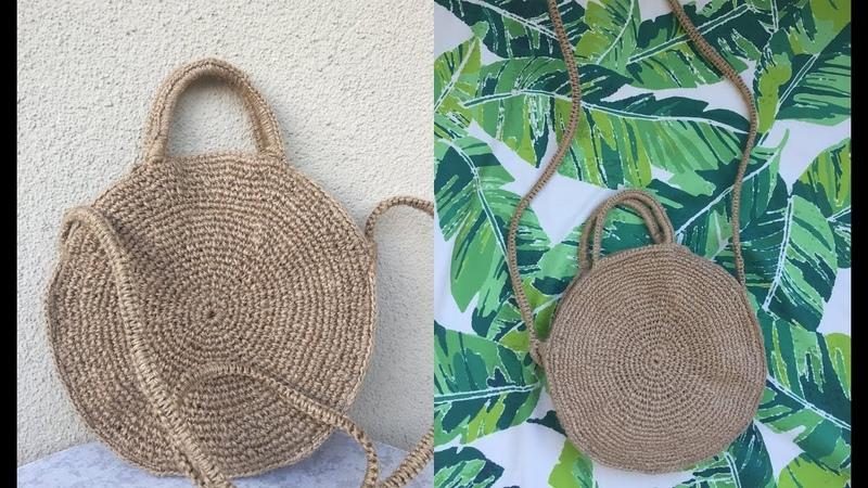 15 TL' Ye Kolay Hasır Çanta Yapımı DIY ROPE ROUND BAG
