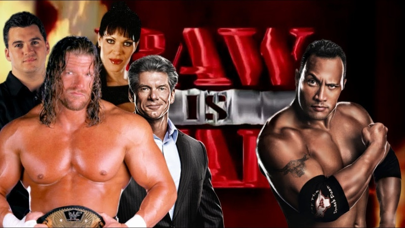 WWE 2K20 Triple H w Mr McMahon Shane McMahon and Chyna vs The Rock Raw Is War '99 No DQ Match