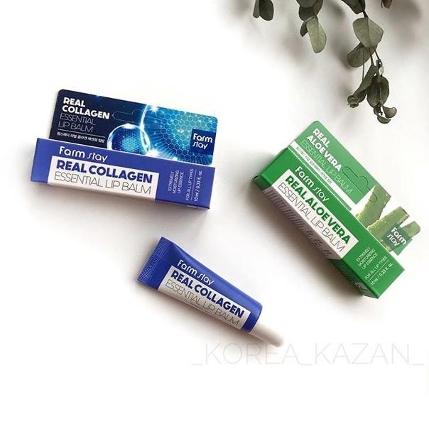 Farmstay Real Aloe Vera Essential Lip Balm — Бальзам для губ