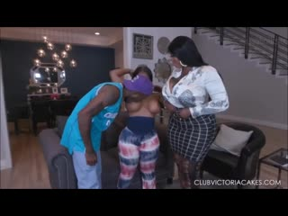VICTORIA CAKES THREESOME WITH MS LONDON, BIG BOOTY, EBONY, BIG TITS, BBW, NEW PORN 2020