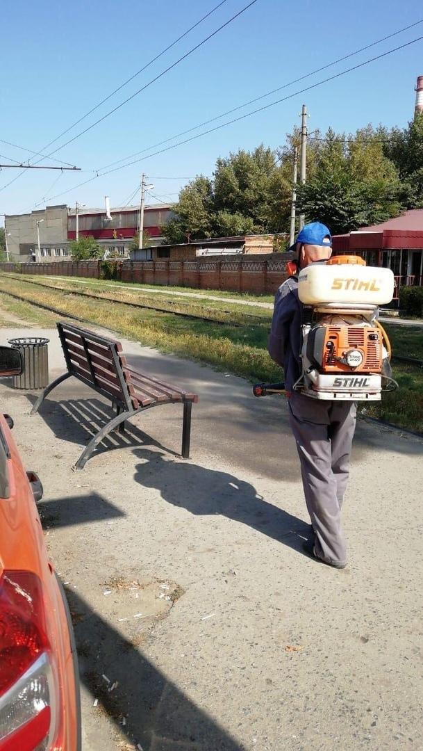 В городе Таганроге продолжаются мероприятия по санитарной обработке общественных территорий