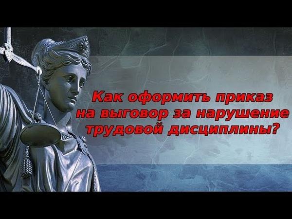 Приказ о нарушении трудовой дисциплины бесплатная консультация юриста онлайн