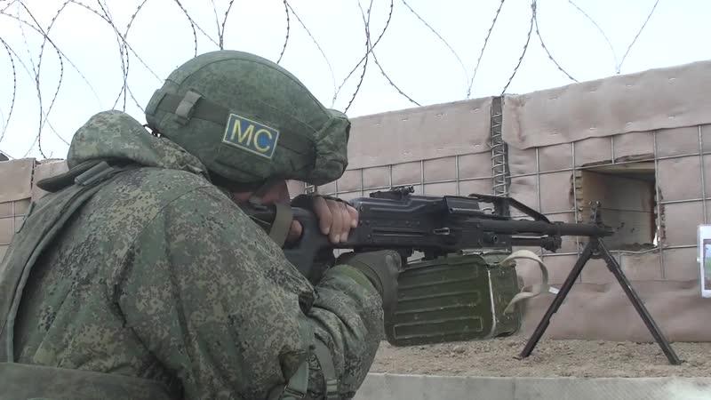 Несение службы российскими миротворцами в Нагорном Карабахе