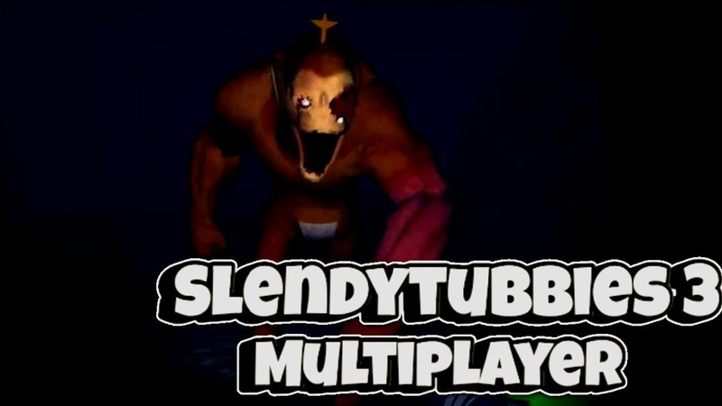 Slendytubbies 3 multiplayer Страшная и Угарая игра 1 Слендипузики 3