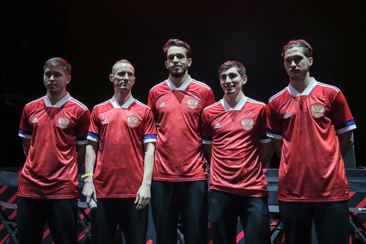 Первый вариант домашней формы сборной России 2020