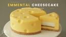 톰과 제리 치즈케이크! 노오븐 에멘탈 치즈케이크 만들기 : TomJerry No-Bake Emmental Cheesecake : エ125