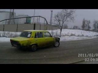 Зимний дрифт в Саратове.  г.