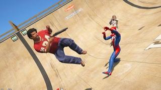 GTA 5 Crazy Ragdolls Spiderman VS Hulk (Euphoria Physics Fails and Funny Moments)