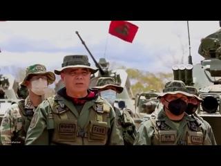 """Министр обороны Венесуэлы Владимир Падрино Лопес в войсках на учениях """"Чавес-2021"""" :"""